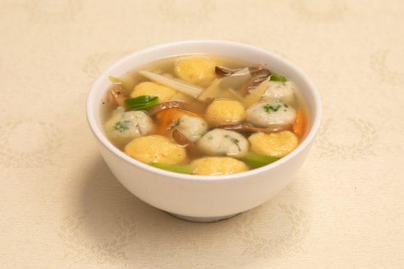 Soupe boulettes de poisson